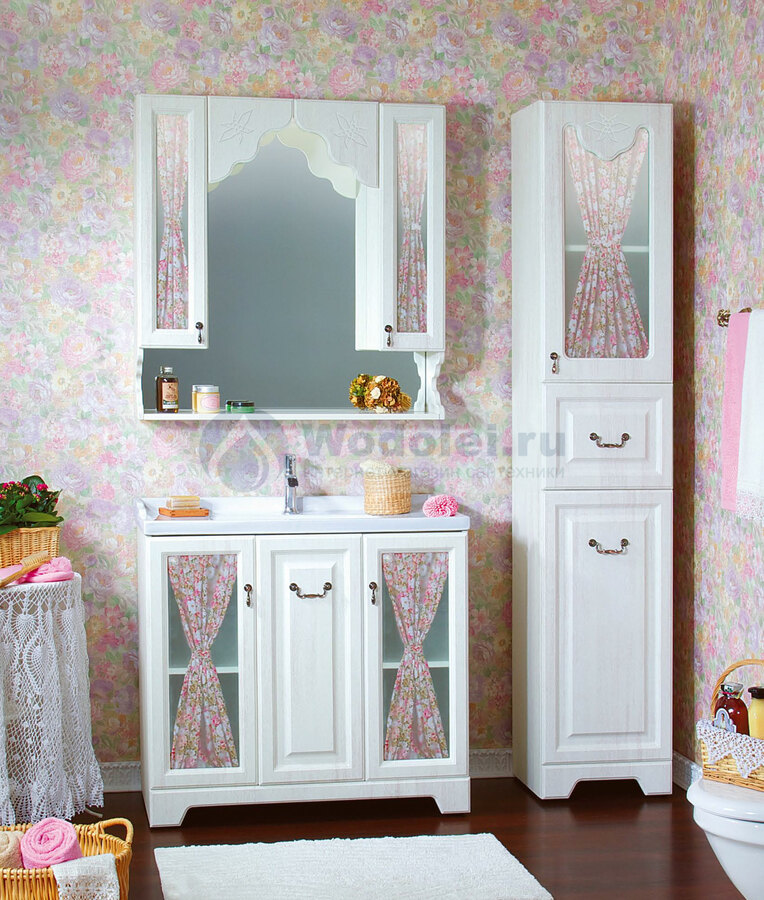 Мебель для ванн кантри интерьер ванной комнаты кафель