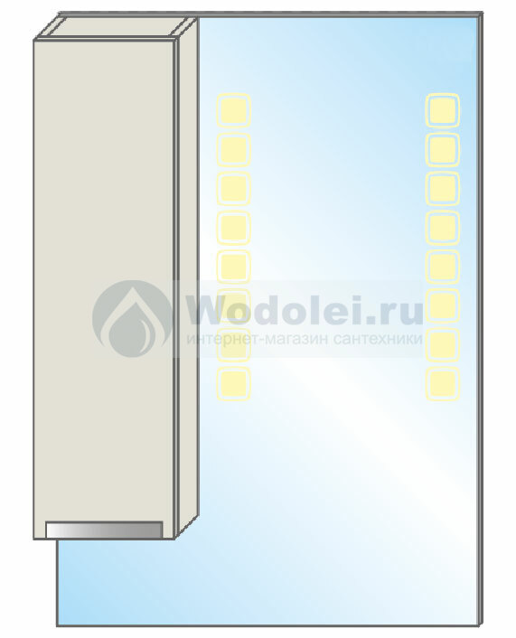 Gemelli Wenz Space Зеркало-LED 140