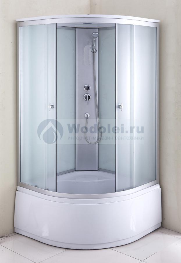 Угловая стойка для душевой кабины ванная комната красно белая фото